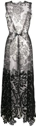 Vera Wang long lace blouse