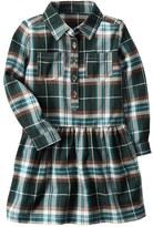 Carter's Girls 4-8 Green Plaid Drop-Waist Dress