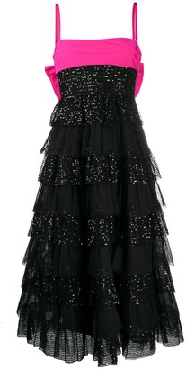 RED Valentino Sequinned Flared Dress