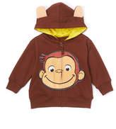 Freeze Brown Curious George Ear Zip-Up Hoodie - Toddler