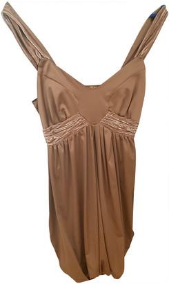 Galliano Camel Silk Dresses