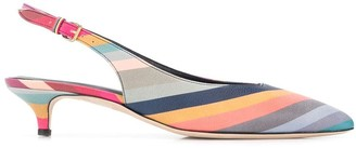 Paul Smith striped slingback pumps