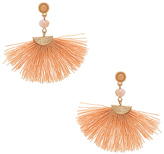 Shashi Mia Tassel Earrings in Metallic Gold.