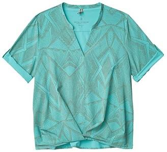 Royal Robbins Spotless Traveler Short Sleeve Top (Jet Black) Women's Blouse