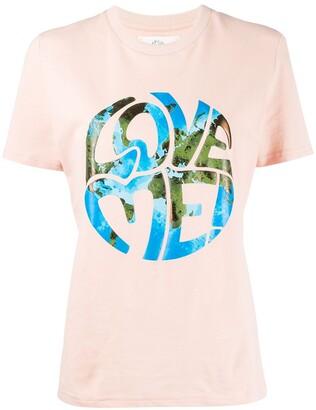 Alberta Ferretti Love me! stamped design T-shirt
