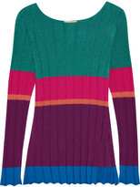 Etro Striped Ribbed Jersey Top - Purple