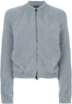 Tom Ford puff sleeve zip cardigan - women - Polyamide/Angora - XS