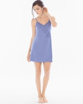 Soma Intimates Floral Lace Sleep Chemise Blue Chill