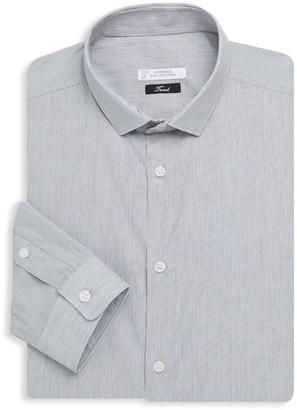 Versace Striped Cotton Dress Shirt