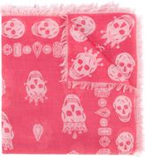 Alexander McQueen king and queen skull scarf