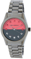 Karl Lagerfeld Women&s Petite Stud Two-Tone Dial Watch