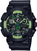 G-Shock Men's Analog-Digital Black Resin Strap Watch 55x51mm GA100LY-1A