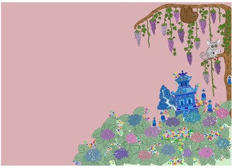 Abigail Hardie Home Chinoise Garden Print