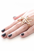 Low Luv x Erin Wasson Cosmos Double Finger Ring in Gold