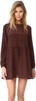 Diane von Furstenberg Long Sleeve Crew Neck Dress
