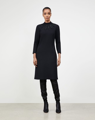 Lafayette 148 New York Petite Nouveau Crepe Embellished Adira Dress