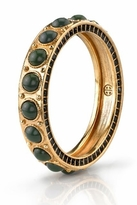 House Of Harlow Green Cabochon Stone Bangle