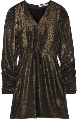 Walter Baker Whitley Metallic Printed Organza Mini Dress