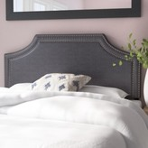 Albee Upholstered Panel Headboard Latitude Run Size: Full, Color: Dark Gray