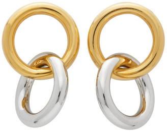 Numbering Gold and Silver 982 Hoop Earrings