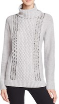 Magaschoni Embellished Cashmere Turtleneck Sweater
