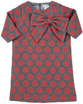 Baby CZ POLKA DOT JACQUARD-WOVEN SHIFT DRESS