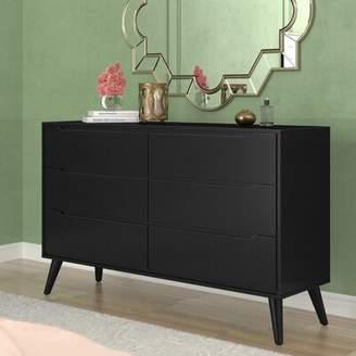 Modern Rustic Interiors Staton 6 Drawer Double Dresser Modern Rustic Interiors