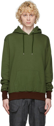 Youths in Balaclava Green Yoke Hoodie