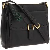Dooney & Bourke - Florentine Pocket Crossbody (Black/Black Trim) - Bags and Luggage