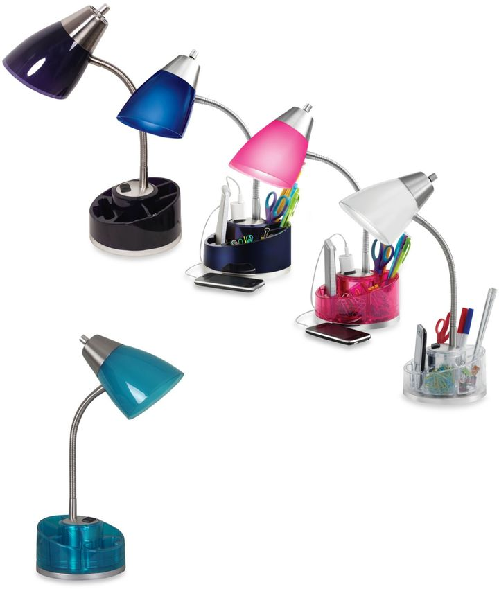 Bed Bath & Beyond Equip Your Space Organizer Desk Lamp in Purple