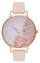 Olivia Burton **Embroidered Butterfly Watch
