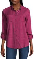 Liz Claiborne 3/4 Sleeve T-Shirt - Tall