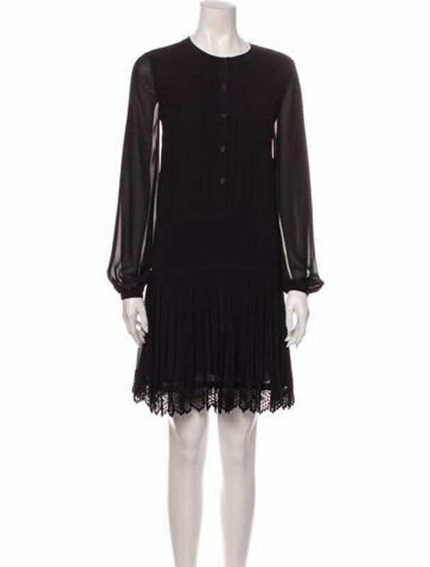 Tory Burch Crew Neck Mini Dress w/ Tags Black
