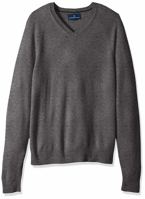 Buttoned Down Amazon Brand Men's 100% Premium Cashmere V-Neck Sweater