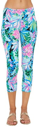 Lilly Pulitzer UPF 50+ Weekender Crop Leggings (Onyx You Me and Giraffee) Women's Casual Pants