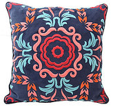 Blissliving Home Mexico City Collection Viva Mexico Embroidered Faux Suede Pillow