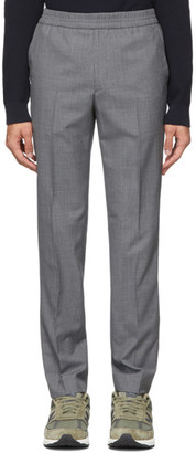 Harmony Grey Tropical Wool Paolo Trousers