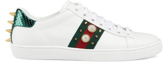 Gucci Women's Ace studded leather sneaker