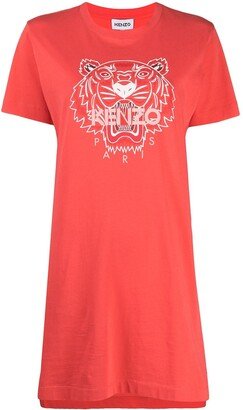 Kenzo tiger-motif T-shirt dress