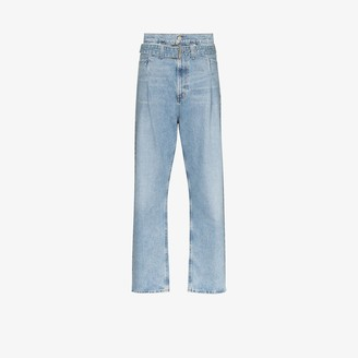 AGOLDE Reworked '90s belted organic cotton jeans