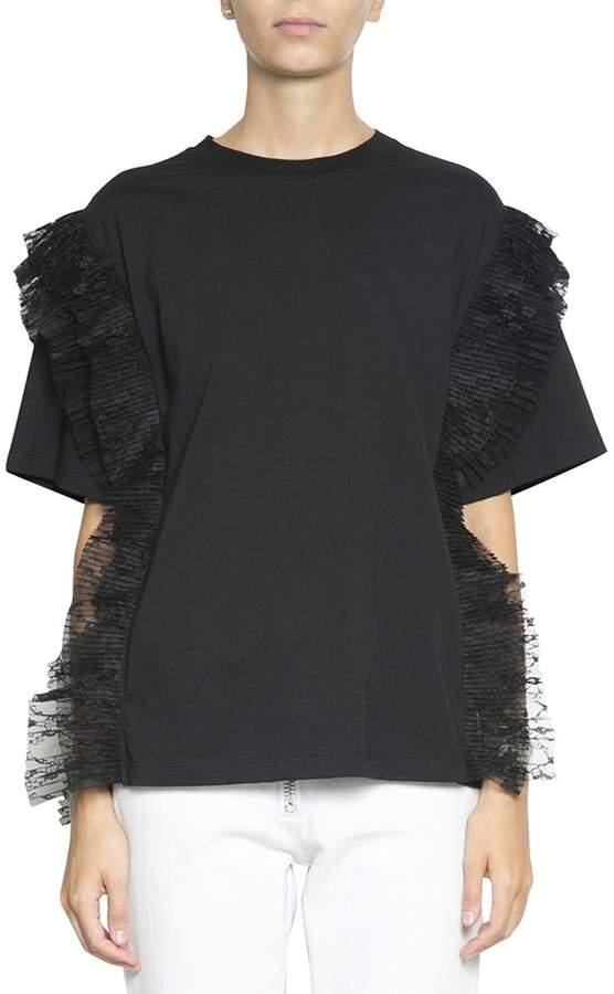 MSGM Ruffled Cotton T-shirt