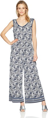 Max Studio Women's Sleeveless V-Neck Jumpsuit