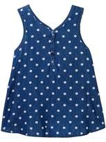 Splendid Printed Denim Cross Back Tank (Big Girls)