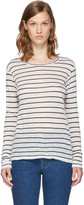 Etoile Isabel Marant Off-White Long Sleeve Striped Aaron T-Shirt