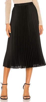 1 STATE Charmeuse Pleated Midi Skirt