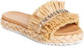 Prada Embellished Raffia Slide Sandal