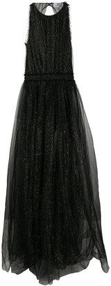 Elisabetta Franchi Sheer Evening Gown