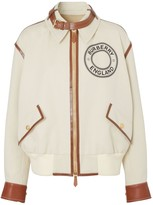 Burberry CANVAS & LEATHER BOMBER JACKET