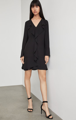 BCBGMAXAZRIA Debra Ruffled-Trim Dress