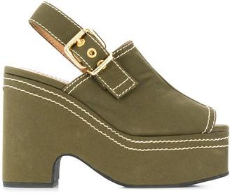 Marni Platform Contrast Stitch Sandals